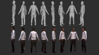 A 3D body scan using the Kinect