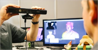 Using the Kinect as a body scanner