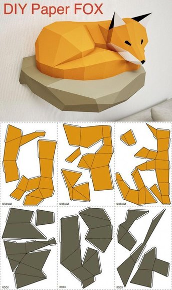 A paper model sheet with all parts