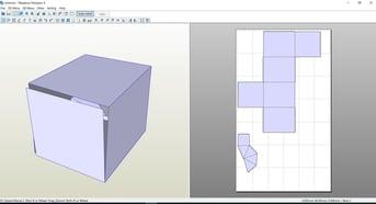 A screenshot of our project in Pepakura