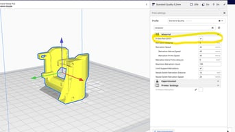 Cura's retraction settings are under