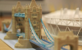 The Tower Bridge in 3D form