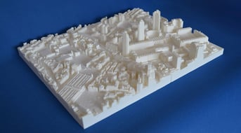 A 3D printed model of London