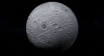 A photorealistic model of the moon on Free3D