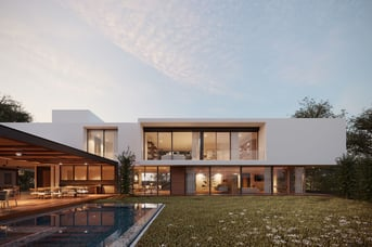 A model of a modern house on CGTrader
