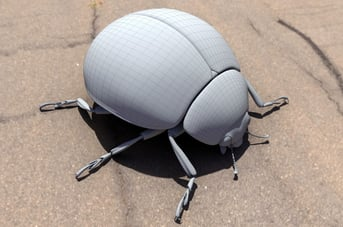 A high-detail leaf beetle model on CadNav
