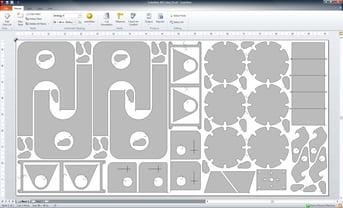 Nesting software at work optimizing part arrangement