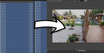 Selecting the frames and importing to a Blender viewport preview