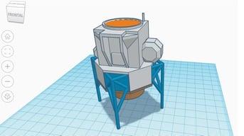 A lunar lander made in Tinkercad