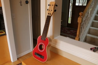 A ukulele made on a CNC router