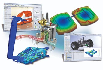 CAD simulations in SolidWorks