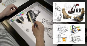 Product design with CAD