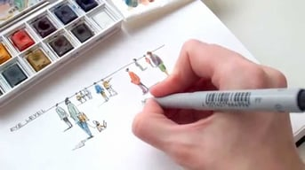 A handmade sketch can also be a powerful visualization tool