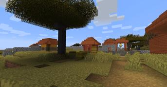 Screenshot of the village
