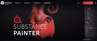 Substance Painter's main page