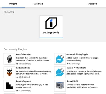 The Cura Plug-in Marketplace