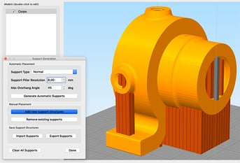 Custom supports – a definite win for Simplify3D