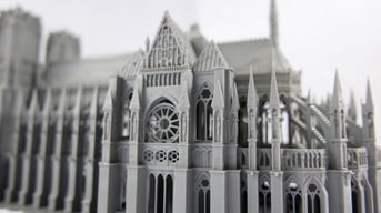 This close-up reveals the level of detail possible with a 3D printer