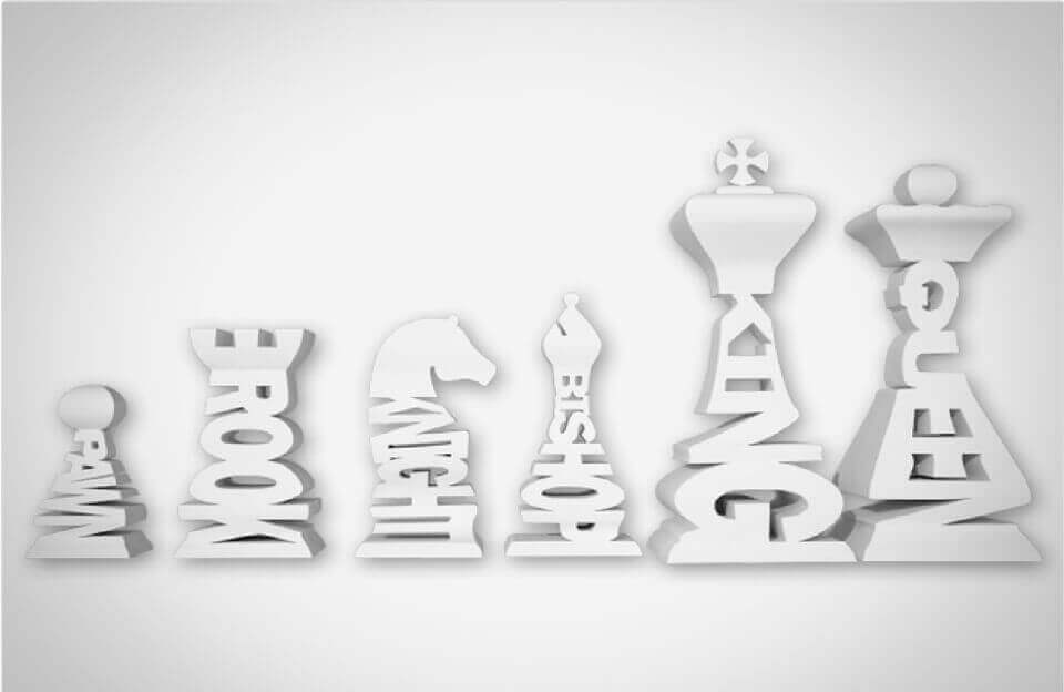 Thing of the week: Typographical 3D printed chess set