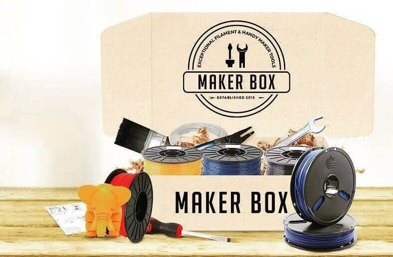 MakerBox is a monthly subscription service for 3D printing filament and tools (image: MakerBox)