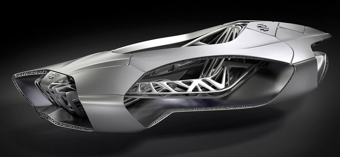 The EDAG Genesis is a concept for a 3D printed car that wraps around the driver