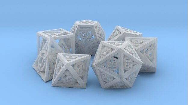 Thing of the Week: 3D Printed Deathly Hallows Dice Set