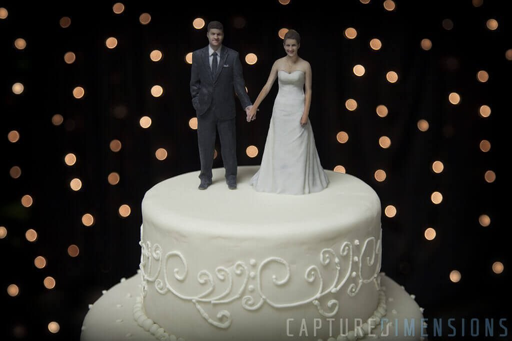 3D Printed Wedding Cake Toppers Look Stunning!
