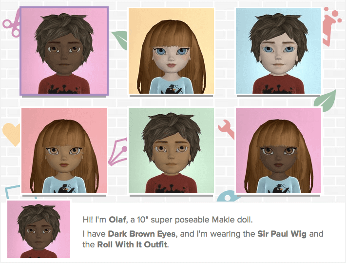 Makies are 3D printed dolls that can be fully personalized (image: Makies)
