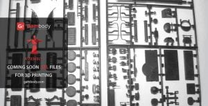 The T62A Tank Assembly model will come at a fraction of the cost (25$) of similar products by established modeling manufacturers (image: Gambody)