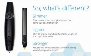 The new and improved 3Doodler 2.0 will be considerably slimmer and... sexier (image: 3Doodler)