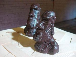 With his 8 nozzle Cheetah 3D printer, inventor Hans Fouche is probably the most prolific 3D chocolate creator (image: Hans Fouche)