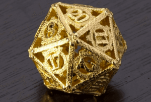 Steampunk d20 dice (source: i.Materialise)