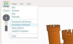 Anythin you draw in Autodesk's Tinkercad you can export for 3D printing or for Minecraft (image: Tinkercad)