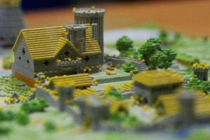 3dprinted minecraft village