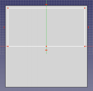 Draw a second rectangle with an offset of 2.5mm to the edges on one half of your box.