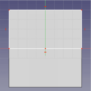 Draw a rectangle on one half of your base.