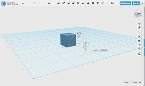 123D Design's interface lets you modify simple shapes through intuitive on-screen commands (image: 123D Design)