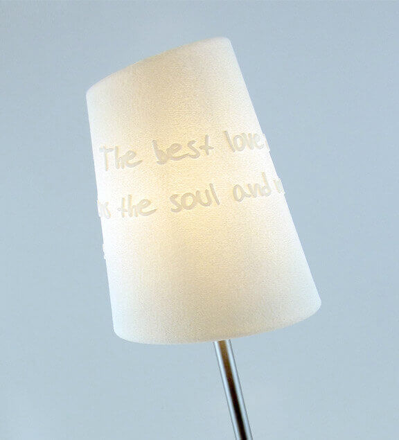 Your favorite quote in a lampshade