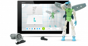 Tinkerplay (previously Modio) lets you create complex robot models that are easy to 3D print (image: 123DApp)