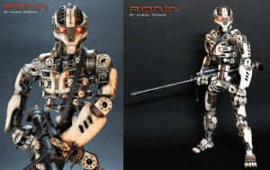 One of the best examples of waht is possible with a desktop 3D printer is Ronin, an action figure with over