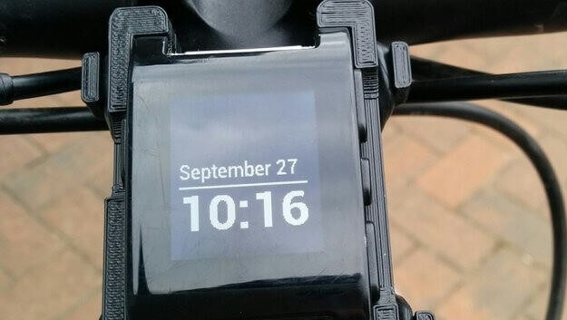 3D Printed SmarterMount Bike Mount for Pebble | All3DP