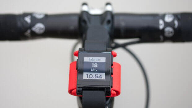 3D Printed Pebble Watch Bike Mount | All3DP