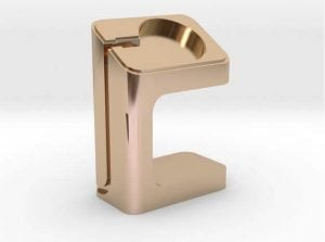 Apple Watch Charger Dock gold plated (source: Shapeways)