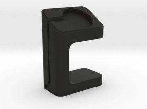 Apple Watch Charger Dock in black nylon plastic (source: Shapeways)