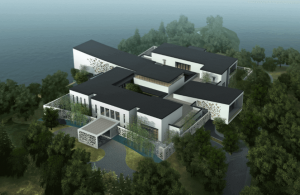 A mansion designed for 3D printing (source: Winsun)