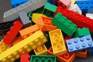Desktop 3D printers use ABS - a material also used in Lego bricks (source: Wikipedia)