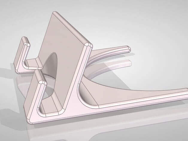 3D printing speed: The tablet stand is both large and complex to print.