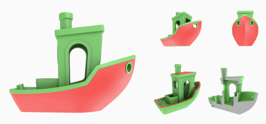 3D printing speed: 3D printing speed: 3DBenchy is relatively small but very challenging to print.