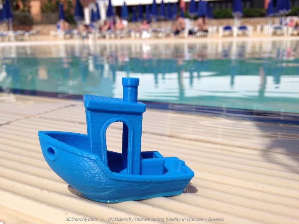 3DBenchy relaxes during holiday in Rhodes, Greece