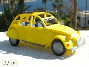 The unmistakeable outline of the Citroen 2CV, Doesn't it just make you want to 3D print it?